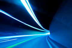 Tunnel abstract. Blurred movement of cars Stock Photography