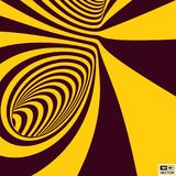 Tunnel. Abstract 3D geometrical background. Pattern with optical illusion. Vector illustration Royalty Free Stock Photo