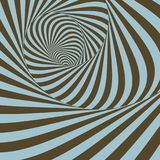 Tunnel. Abstract 3D geometrical background. Pattern with optical. Illusion. Vector illustration Stock Photography