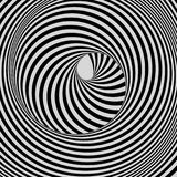 Tunnel Abstracte 3d geometrische achtergrond Zwart-wit ontwerp Patroon met optische illusie royalty-vrije illustratie