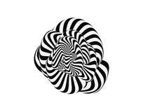 Tunnel Abstracte 3d geometrische achtergrond Zwart-wit ontwerp Patroon met optische illusie Vector illustratie royalty-vrije illustratie