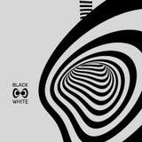 Tunnel Abstracte 3d geometrische achtergrond Zwart-wit ontwerp Patroon met optische illusie Vector illustratie vector illustratie