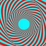 Tunnel Abstracte gestreepte achtergrond Optisch art 3d vectorillustratie stock illustratie