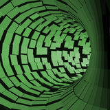Tunnel abstrait Style futuriste surface 3D Tube de rotation Fond de perspective Photographie stock libre de droits