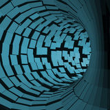 Tunnel abstrait Style futuriste surface 3D Tube de rotation Fond de perspective Image stock
