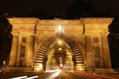 Tunnel Adam-Clark in Budapest, Ungarn Lizenzfreie Stockbilder