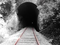 Tunnel Afquintue. Is a very old tunnel in Araucania Chile, such a beauty rail ways , train, annd nature royalty free stock photo