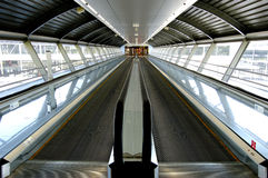 Tunnel in airport Royalty Free Stock Photo