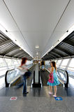 Tunnel in airport. With mechanical passage Royalty Free Stock Images