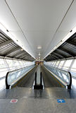 Tunnel in airport. With mechanical passage Stock Photos