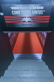 Tunnel al campo da giuoco allo stadio di Mestalla Immagine Stock