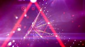 Tunnel al neon del rombo ottimistico virtuale sfocato royalty illustrazione gratis