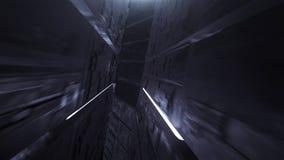 Tunnel al neon digitale del ciclo di Vj video d archivio