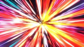 Tunnel al neon 4K illustrazione di stock