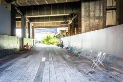 Tunnel all'alta linea in Manhattan, New York Fotografia Stock
