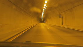 Tunnel along motorway E6 from Oslo to Trondheim (Norway) stock video