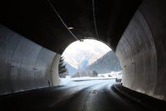 Tunnel in alpi Austria Immagini Stock Libere da Diritti