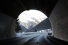 Tunnel in alpi Austria Fotografia Stock