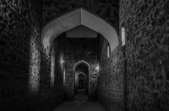 Tunnel in Amer Fort Stockbild
