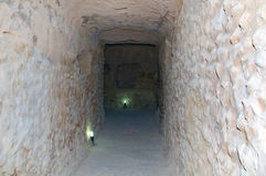 Tunnel in ancient castle Stock Photos