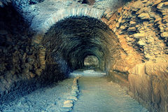 Tunnel of ancient city Nysa Royalty Free Stock Image
