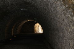 Tunnel. Ancient dark tunnel in Italy Royalty Free Stock Images