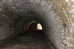 Tunnel. Ancient dark tunnel in Italy Royalty Free Stock Photography