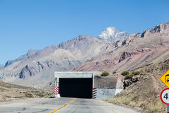 Tunnel in Andes Mountains Royalty Free Stock Photos