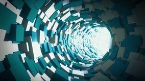 Tunnel Animation stock footage