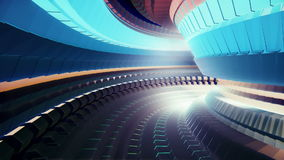 Tunnel Animation stock video footage