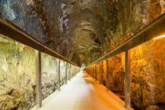 Tunnel antique de Megiddo, Israël Photos libres de droits