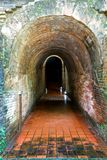 Tunnel antique Wat Umong Image stock