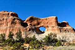 Tunnel Arch at Arches National Park stock image