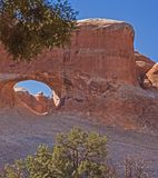 The Tunnel Arch in Arches National Park. Utah 2. The Tunnel Arch in Arches National Park, Utah. United States of America Stock Photo