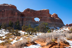 Tunnel Arch in Arches National Park Stock Photography