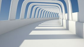 Tunnel arch. A 3D video animation of an abstract corridor stock footage