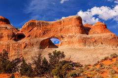 Tunnel Arch Rock Canyon Devils Garden Arches National Park Moab Utah Royalty Free Stock Photography