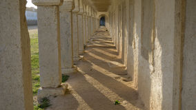 Tunnel arches and shadows in Cabo Espichel, Sesimbra Royalty Free Stock Photo