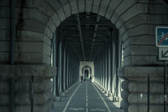 Tunnel with archways, Paris, France Stock Photography