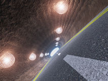 Tunnel and asphalt Stock Photos
