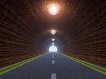 Tunnel and asphalt road Royalty Free Stock Photos