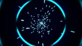 Tunnel astratto di potere con le particelle archivi video