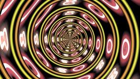 Tunnel au néon abstrait de pizza images stock