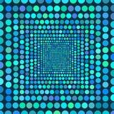 Tunnel av cirklar som går tillbaka in i avståndet stock illustrationer