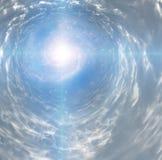 Tunnel av ljus Arkivbild