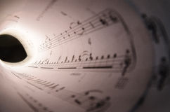 Tunnel av musik Royaltyfria Bilder