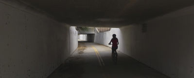 A Tunnel on the Aviation Bikeway, Tucson Stock Photos