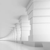 Tunnel Background. 3d Illustration of White Tunnel Background Royalty Free Stock Image