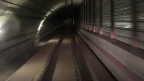 Tunnel of Barcelona metro. The movement along Tunnel of Barcelona metro stock footage