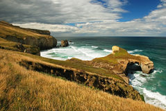 Tunnel beach royalty free stock photography